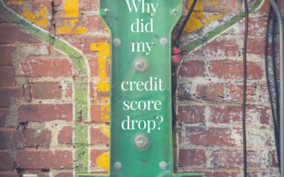 Why did my credit score drop?